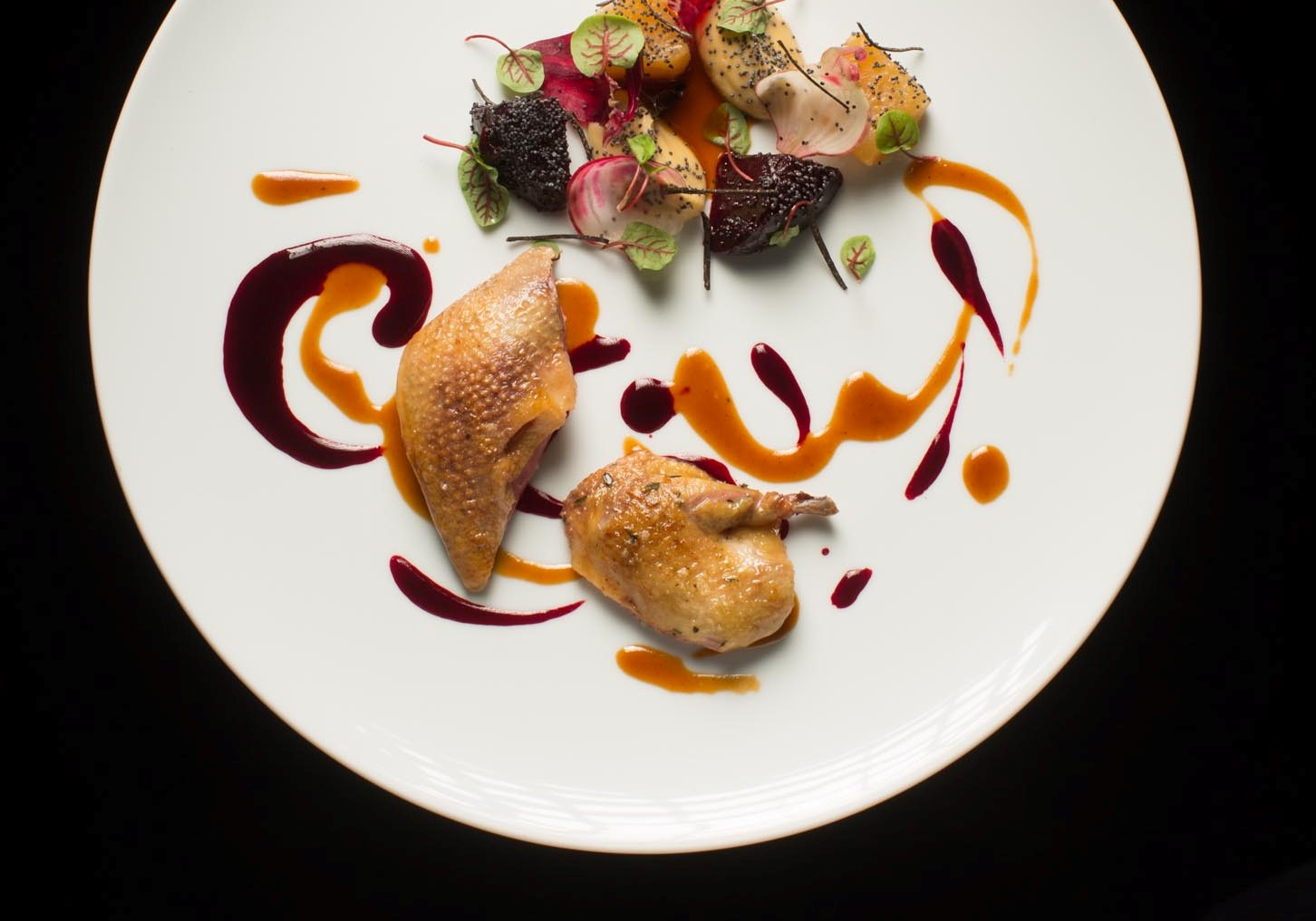 Mieral Pigeon, Beetroot and White Miso